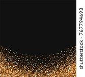 red round gold glitter.... | Shutterstock .eps vector #767794693