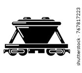 goods train icon. simple... | Shutterstock .eps vector #767817223