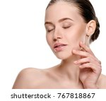 young beauty treatment concept | Shutterstock . vector #767818867