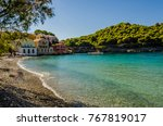 end of the picturesque bay of... | Shutterstock . vector #767819017