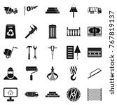 building material icons set.... | Shutterstock .eps vector #767819137