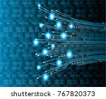 binary circuit board future... | Shutterstock .eps vector #767820373