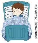 illustration of a kid boy... | Shutterstock .eps vector #767821513
