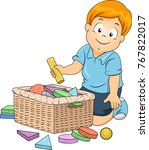 illustration of a kid boy... | Shutterstock .eps vector #767822017