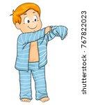 illustration of a kid boy... | Shutterstock .eps vector #767822023