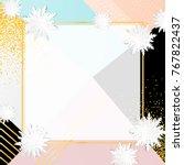 origami snowflakes. winter...   Shutterstock .eps vector #767822437