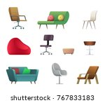 chair and sofa design... | Shutterstock .eps vector #767833183
