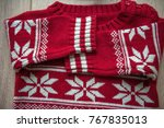 christmas sweater pattern.... | Shutterstock . vector #767835013
