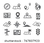 navigation and map icons  | Shutterstock .eps vector #767837923