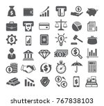 Finance Icons on white background | Shutterstock vector #767838103