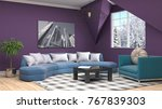 interior living room. 3d... | Shutterstock . vector #767839303