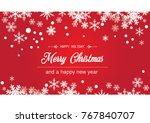 merry christmas vector... | Shutterstock .eps vector #767840707