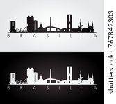 Brasilia Skyline And Landmarks...