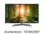 4k monitor isolated on white | Shutterstock . vector #767842507