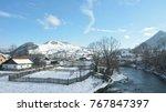 winter in the villages of...   Shutterstock . vector #767847397