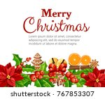 christmas decoration red... | Shutterstock .eps vector #767853307