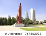 north korea  pyongyang  ...   Shutterstock . vector #767863033