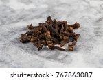 drying clove spice  syzygium...   Shutterstock . vector #767863087