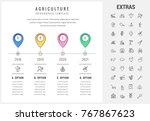 agriculture timeline...   Shutterstock .eps vector #767867623