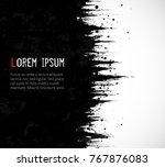 abstract black grunge...   Shutterstock .eps vector #767876083