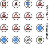 line vector icon set   parking... | Shutterstock .eps vector #767876527