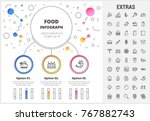 food circle infographic... | Shutterstock .eps vector #767882743