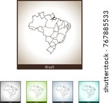 map of brazil | Shutterstock .eps vector #767885533