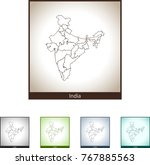 map of india | Shutterstock .eps vector #767885563