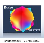modern vector template for bi... | Shutterstock .eps vector #767886853