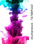 acrylic colors and ink in water.... | Shutterstock . vector #767889163