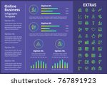 online business infographic... | Shutterstock .eps vector #767891923