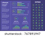 lifestyle infographic template  ... | Shutterstock .eps vector #767891947