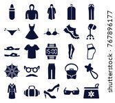 set of 25 fashion filled icons... | Shutterstock .eps vector #767896177