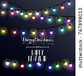 christmas lights  vector... | Shutterstock .eps vector #767898013