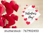 valentine's day background | Shutterstock . vector #767902453