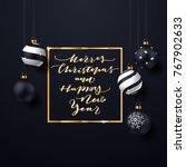 elegant christmas background... | Shutterstock .eps vector #767902633