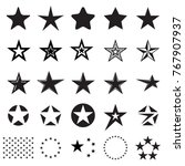 star icons. set of different...