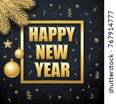 happy new year. vector banner... | Shutterstock .eps vector #767914777