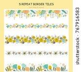 vector set of seaweed repeat... | Shutterstock .eps vector #767916583
