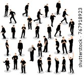 isolated silhouette of men go | Shutterstock . vector #767918923