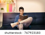 child  teenager or preteen... | Shutterstock . vector #767923183