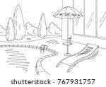 swimming pool graphic black...   Shutterstock .eps vector #767931757