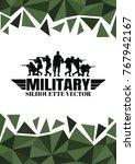 military vector illustration ... | Shutterstock .eps vector #767942167