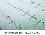 printed ecg  can be used as a... | Shutterstock . vector #767946757