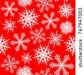 snowflakes seamless pattern in...   Shutterstock .eps vector #767947003