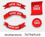 big sale banner.super sale... | Shutterstock .eps vector #767969143