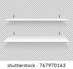 bookshelves vector. empty white ... | Shutterstock .eps vector #767970163
