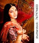 beauty sweet real indian girl... | Shutterstock . vector #767974603