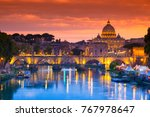 night view of old sant' angelo... | Shutterstock . vector #767978647