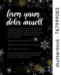 minimalist christmas flyer ... | Shutterstock .eps vector #767999083